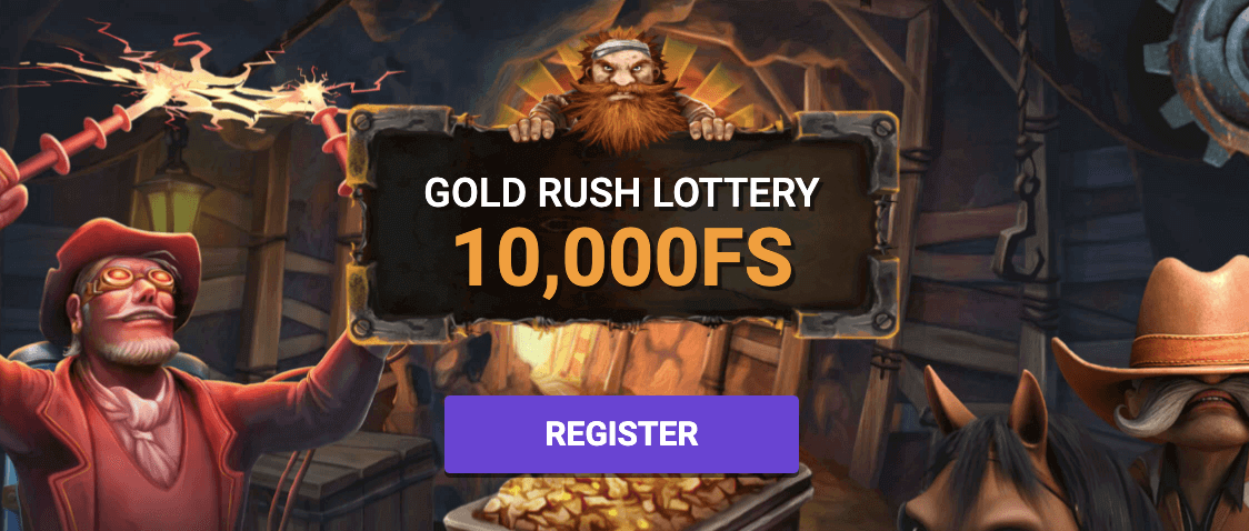 ilucky give away free spins golden rush lottery promotion featured image